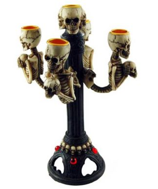 Candle Holder Skull H28xw14cm