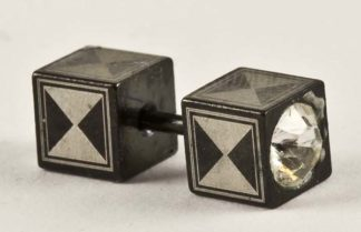 XX-Body Piercing Plug Triangle With Stones 3pcs