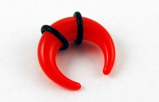 XX-Body Piercing Stretcher Claw Red Neon 3mm 2pcs