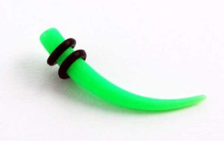 XX-Body Piercing Stretcher Curved Green Neon 10mm