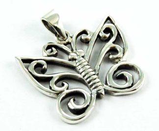 XX-Pendant Silver Butterfly Cut