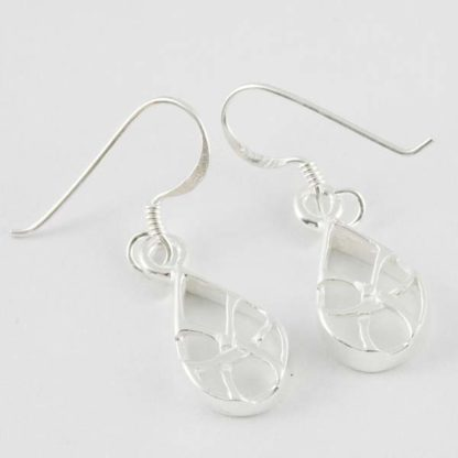 XX-Silver Earring Tear Drop Cut