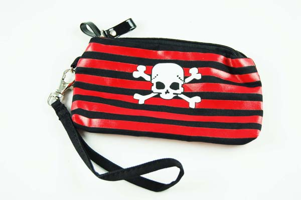 Wallet Cotton Skull Striped*12pcs For 25p Each*