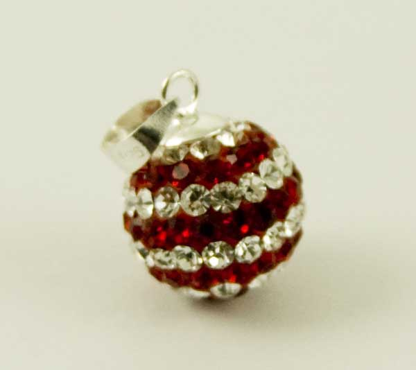 Pendant Silver Ball 12mm Siam *2 For 1*