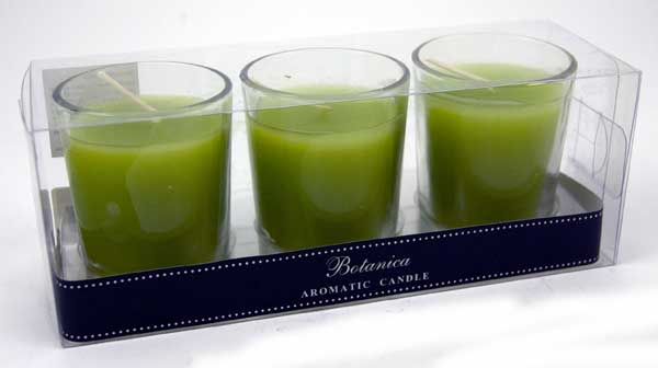 Candle in Glass Lemon 3pcs