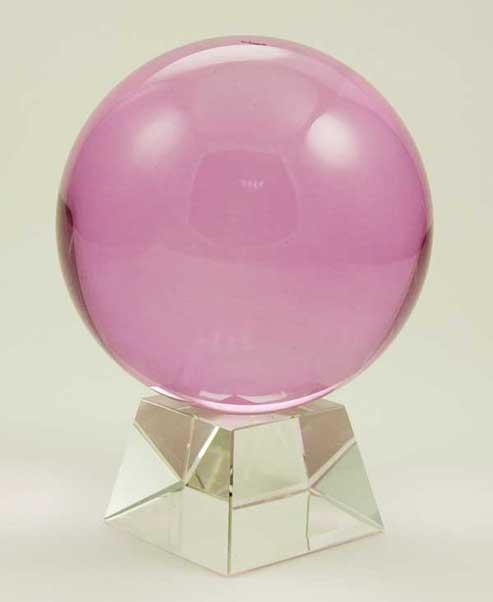Crystal Ball Pink 100mm