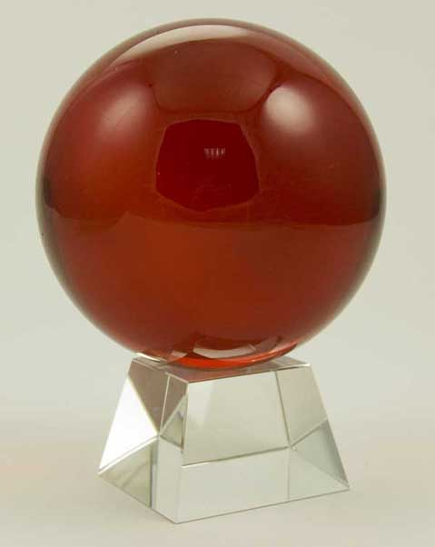 Crystal Ball Red 100mm