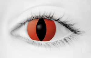 Fashion Eye Accessory Predator Red (With Free Solution And Case)