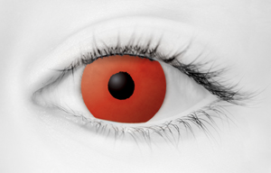 Fashion Eye Accessory Red (With Free Solution And Case)