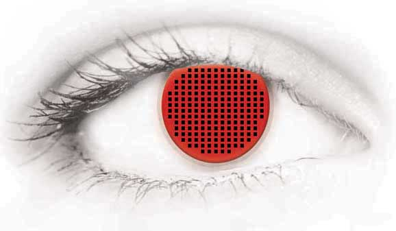 Fashion Eye Accessory Red Mesh (With Free Solution And Case)