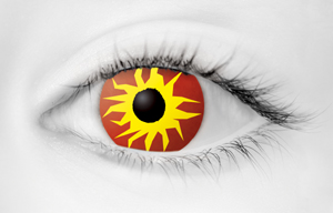 Fashion Eye Accessory Sunburst (With Free Solution And Case)