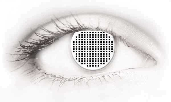 Fashion Eye Accessory White Mesh (With Free Solution And Case)