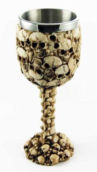 Goblet Skull Heads Ivory H18cm
