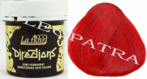 Directions Hair Colour 4 Tubs (Vermillion Red)