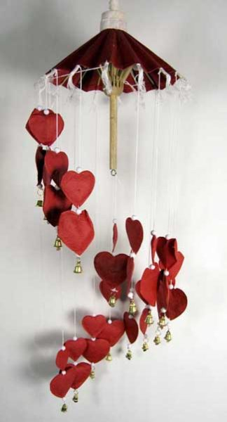 Mobile Heart Red L68cm