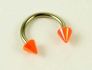 Body Piercing Eyebrow Ring Spike Orange 1.2X8X3cm