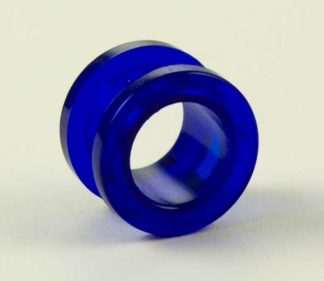 Body Piercing Tunnel Acrylic UV Blue 12mm 4Pcs