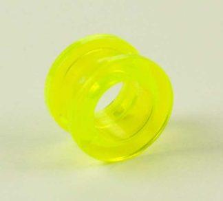 Body Piercing Tunnel Acrylic UV Green 10mm 4Pcs
