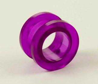 Body Piercing Tunnel Acrylic UV Purple 12mm 4Pcs