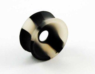 Body Piercing Tunnel Silicone 2-Tone Black 20mm