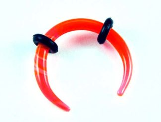 Body Piercing Stretcher Claw Orange Marble 2mm 4pcs