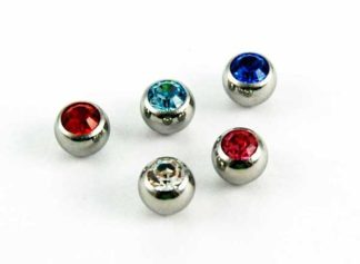 Body Piercing Jewelled Ball 6mm 5pcs