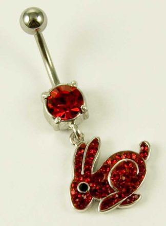 Body Piercing Banana Bar Rabbit Red