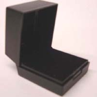 Ring Display Box Plastic Black 4pcs