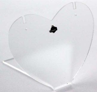Display Acrylic Heart Shape