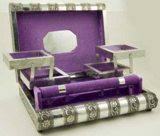 Box Jewellery Metal Lilac 11X8 Inch