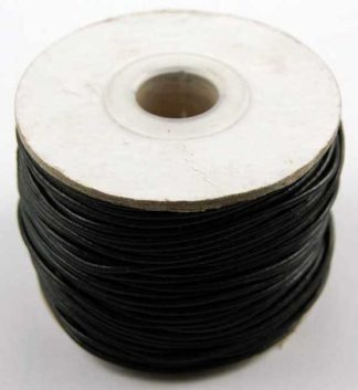 Leather Cord 1.5mm Black 50 Metres
