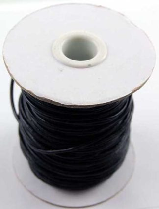 Leather Cord 2mm Black 50 Metres