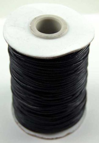 Wax Cord Black 1.5mm 100 Metre Roll