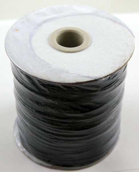 Wax Cord Black 2mm 100 Metre Roll