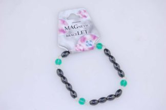 Bracelet Magnetic Green Glass 3pcs