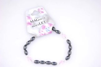 Bracelet Magnetic Pink Glass 3pcs