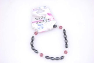 Bracelet Magnetic Purple Glass 3pcs