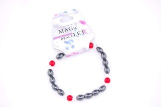 Bracelet Magnetic Red Glass 3pcs