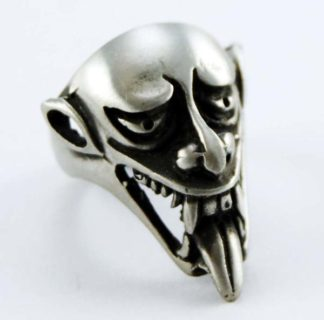 Ring Pewter Demonic Face