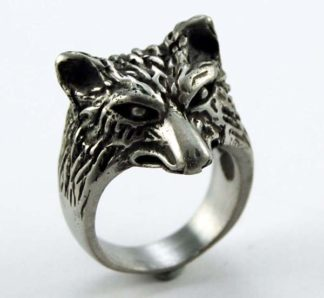 Ring Pewter Wolf