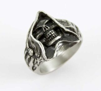 Ring Pewter Reaper Skull Face