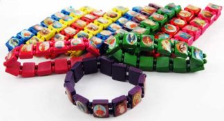 Bracelet Icon Assorted Colours 12pcs
