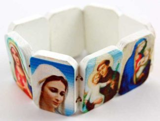 Bracelet Icon White With Saints 12pcs