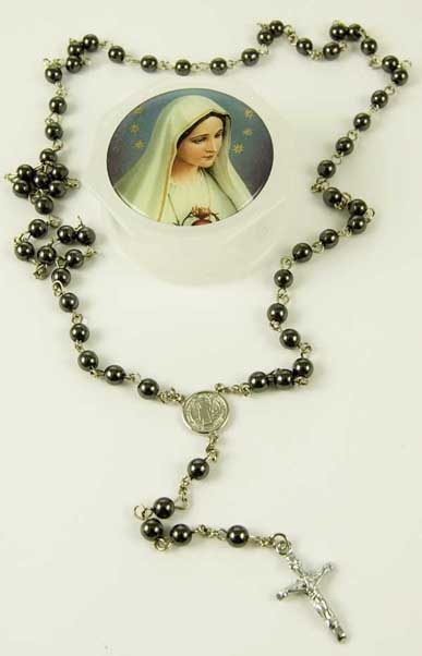 Rosary Bead Hematite 6mm Beads