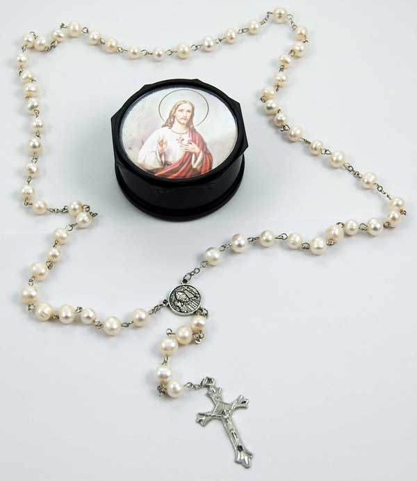 Rosary Beads Genuine Pearl
