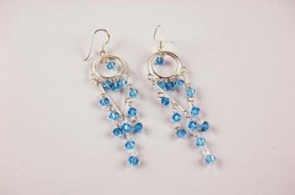 Earring Double Circle Blue