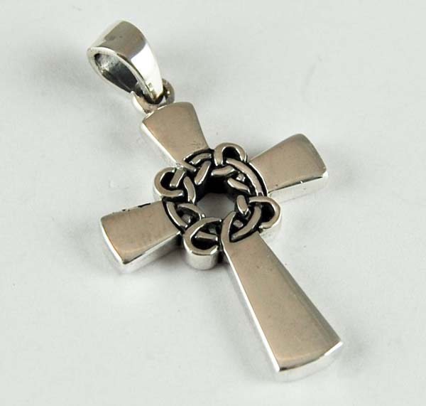pendant silver cross plain cleopatra trading limited