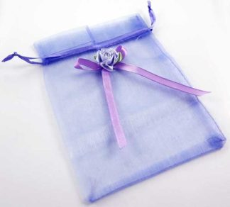 Pouch Mesh Lilac With Flower 2pcs