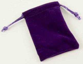 Pouch Velvet Purple L9XW6cm 6pcs