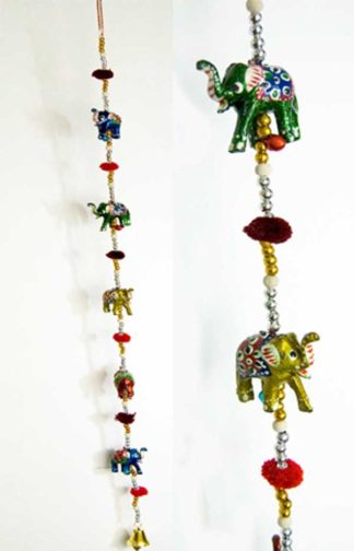 Elephant Decoration With Bells